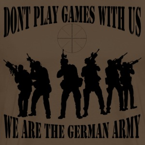 dont_play_games_with_us__bw T-Shirts - Männer Premium T-Shirt