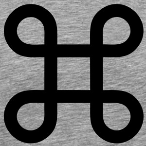 Apple - infinite loop - command key symbol T-Shirts - Men's Premium T-Shirt