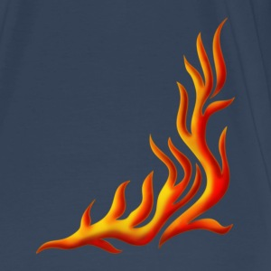 llama, flame / pants, fire, vector, can be combined with flame / T-shirt,  Camisetas - Camiseta premium hombre
