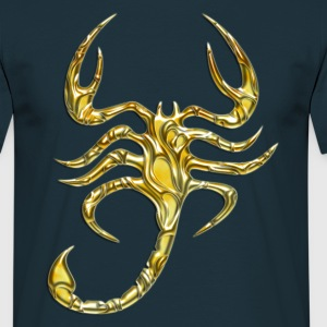 Scorpion, digital, Scorpio, gold T-shirts - T-shirt herr