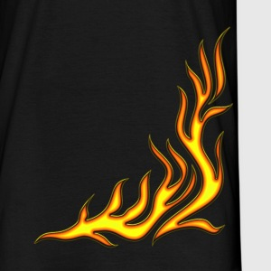 Flame / pants, fire, vector, can be combined with flame / T-shirt,  T-shirts - Mannen T-shirt