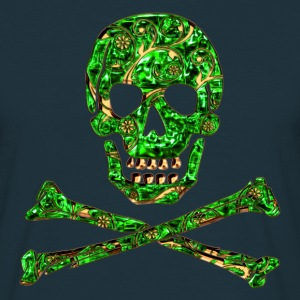 Skull, Emerald, pirate, digital, Crystal Skull T-shirts - Mannen T-shirt
