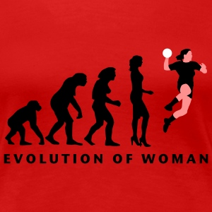 evolution_handball_spielerin_3c T-Shirts - Frauen Premium T-Shirt