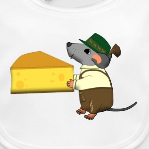 bavarian mouse with cheese Accessoires - Bio-slabbetje voor baby's