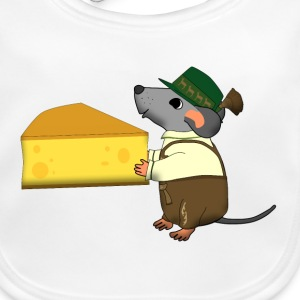 bavarian mouse with cheese Accessoarer - Ekologisk babyhaklapp