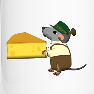 bavarian mouse with cheese Bottles & Mugs - Travel Mug