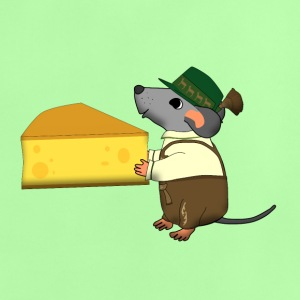 bavarian mouse with cheese Skjorter - Baby-T-skjorte