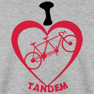 i love tandem velo bicyclette coeur heart Sweat-shirts - Sweat-shirt Homme