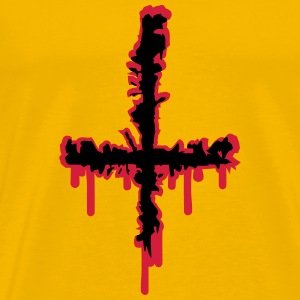 Satan Cross Wound T-shirts - Herre premium T-shirt
