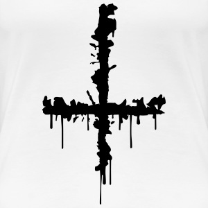 Satan Cross T-Shirts - Women's Premium T-Shirt