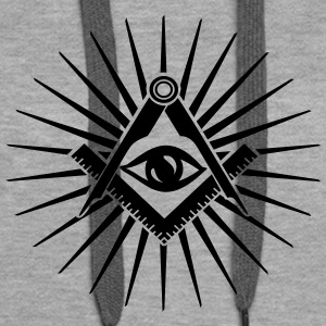 Masonic symbol, all seeing eye, freemason Gensere - Premium hettegenser for kvinner