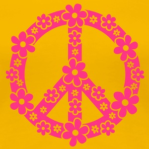 PEACE SYMBOL - symbole de la paix, c, symbol of freedom, flower power, hippie, 68er movement, Woodstock Tee shirts - T-shirt Premium Femme