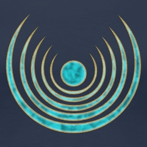 Mond Zauber, digital blau Moon amulet Blue Moon - intuition, creativity and media skills, digital, protection symbol, Intuition, Kreativität und mediale Fähigkeiten, Luna Amulett T-shirt - Maglietta Premium da donna