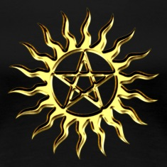 Pentagram - Blazing Star- Sign of intellectual omnipotence and autocracy. digital gold, Star of the Magi , powerful symbol of protection T-Shirts
