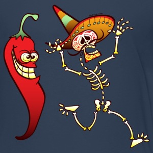 Hot Chili Pepper Nightmare for a Mexican Skeleton Shirts - Teenage Premium T-Shirt