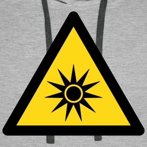 Hazard Symbol - Optical Radiation (2-color) Hoodies & Sweatshirts - Men's Premium Hoodie