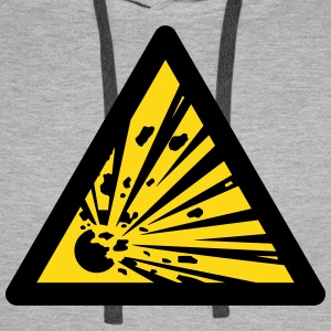 Hazard Symbol - Explosives (2-color) Hoodies & Sweatshirts - Men's Premium Hoodie