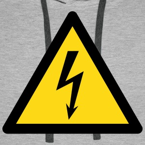 Hazard Symbol - High Voltage (2-color) Hoodies & Sweatshirts - Men's Premium Hoodie