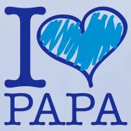 Motif ~ bavoir bleu : j'aime papa