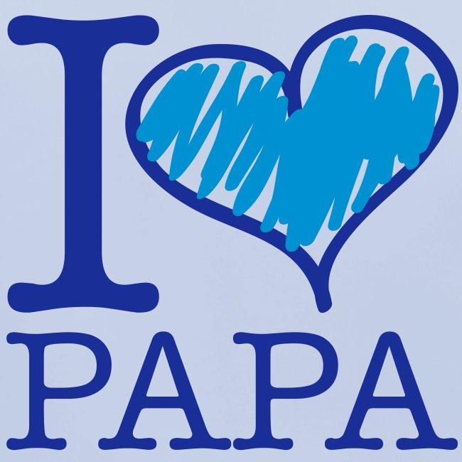 bavoir bleu : j'aime papa