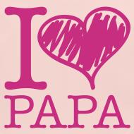 Motif ~ bavoir rose : j'aime papa