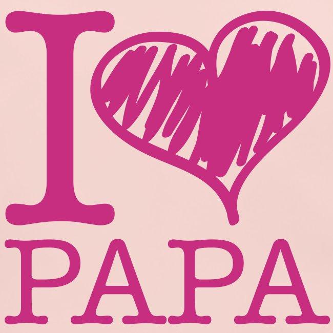 bavoir rose : j'aime papa