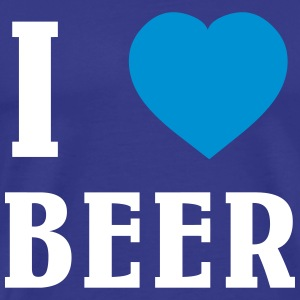 I Love Beer T-shirts - Herre premium T-shirt