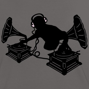 Gramophone Music - DJ & Retro Vinyl Headphones T-Shirts - Women's Ringer T-Shirt