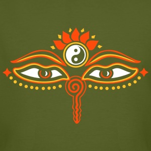 Buddha Eyes, Lotus, symbol wisdom & enlightenment Magliette - T-shirt ecologica da uomo