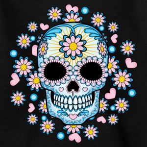 Colorful Sugar Skull Shirts - Kids' T-Shirt