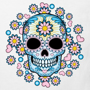 Colorful Sugar Skull Shirts - Kids' Organic T-shirt