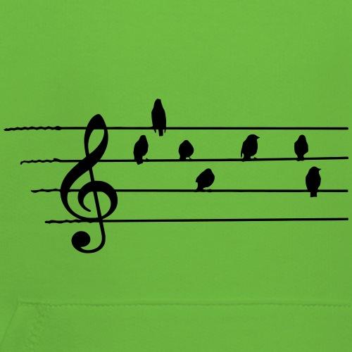 Musik T-Shirt  - Notenschlüssel - Vögel als Noten