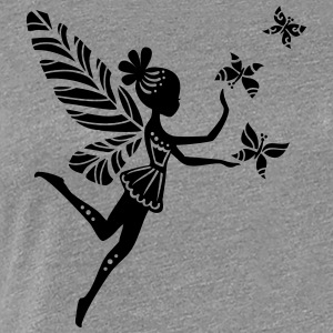 pixie, fairy, elves, magic, butterfly, summer Long Sleeve Shirts - Women's Premium T-Shirt