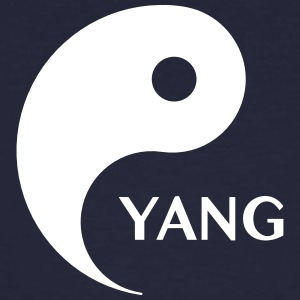 Yang looking for Yin, Part 2, tao, dualities T-shirts - Mannen Bio-T-shirt