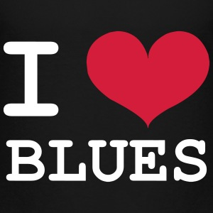 I Love Blues T-shirts - Børne premium T-shirt