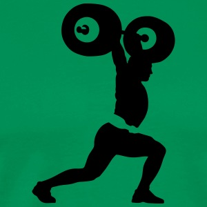 weightlifter T-skjorter - Premium T-skjorte for menn