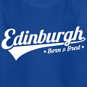 Edinburgh Born & Bred Childrens T Shirt Blue - Kids' T-Shirt