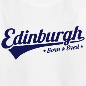 Edinburgh Born & Bred Childrens T Shirt White - Kids' T-Shirt
