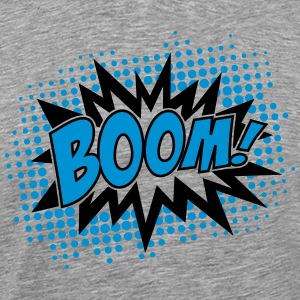 BOOM, comic, speech bubble, cartoon, balloon, dots T-shirts - Mannen Premium T-shirt
