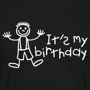 Black It's my birthday - Boy Men's Tees - Men's T-Shirt