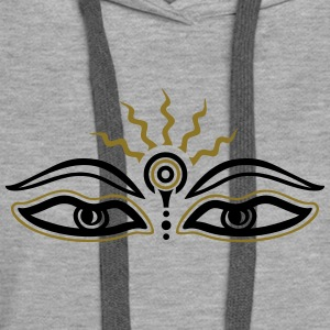 Buddha, third eye, symbol wisdom & enlightenment Hoodies & Sweatshirts - Women's Premium Hoodie
