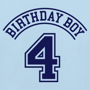 Light blue Birthday boy 4 years Kids' Shirts - Kids' Organic T-shirt