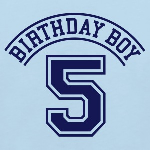 Light blue Birthday boy 5 years Kids' Shirts - Kids' Organic T-shirt