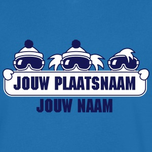 wintersport plaatsnaam T-shirts - Mannen T-shirt met V-hals