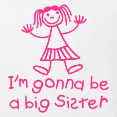White I'm gonna be a big sister Kids' Shirts