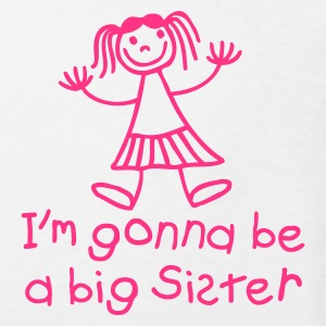 White I'm gonna be a big sister Kids' Shirts - Kids' Organic T-shirt