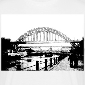 White tynebridge Men's Tees - Men's T-Shirt