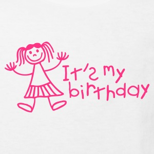 White It's my birthday - Girl Kids' Shirts - Kids' Organic T-shirt
