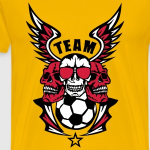 foot soccer tete mort skull aile wings Tee shirts - T-shirt Premium Homme