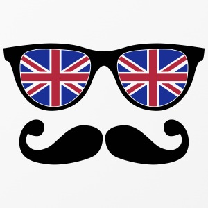 english mustache glasses nerd - like a sir Handy & Tablet Hüllen - iPhone 4/4s Hard Case